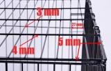 Průměry a rozteče drátů klece