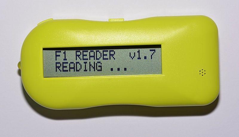 Čtečka čipů při vyhledávání čipu